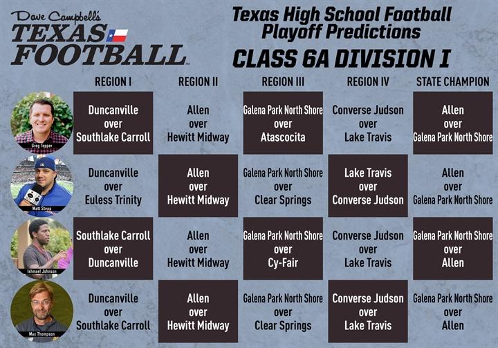 6A Division I Predictions