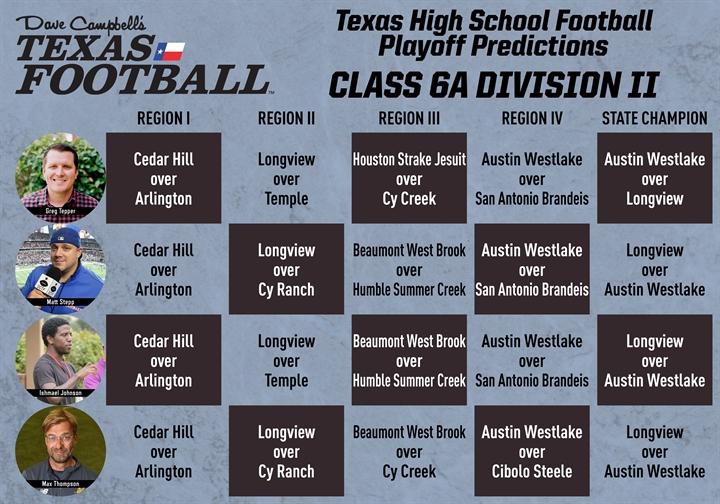 6A Division II Predictions